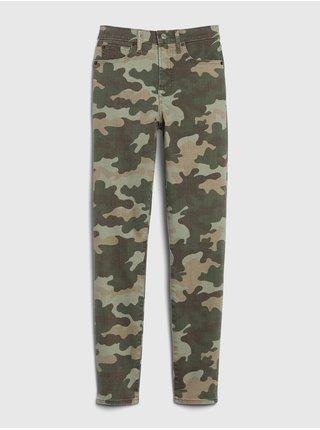 Zelené dámské kalhoty GAP