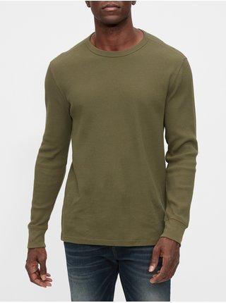 Khaki pánské tričko GAP