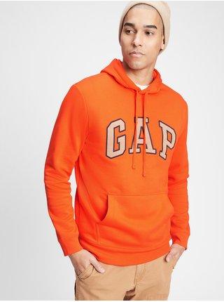 Oranžová pánská mikina GAP Logo