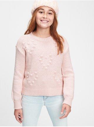 Ružový dievčenský sveter GAP