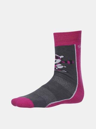 Ružovo-šedé dievčenské ponožky SAM 73