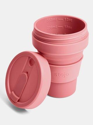 Růžový cestovní skládací hrnek Stojo 355 ml