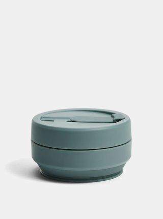 Zelený cestovný skladací hrnček Stojo 355 ml