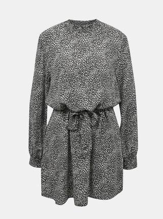 Černé vzorované šaty Jacqueline de Yong Pearl