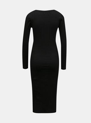 Čierne tehotenské svetrové šaty Mama.licious
