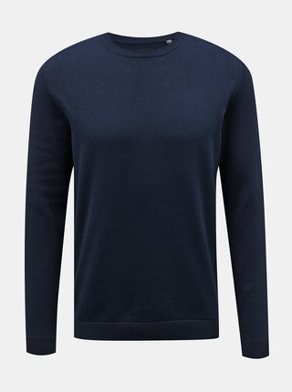 Tmavomodrý basic sveter ONLY & SONS