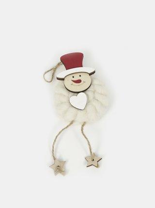 Bílá závěsná vánoční dekorace SIFCON