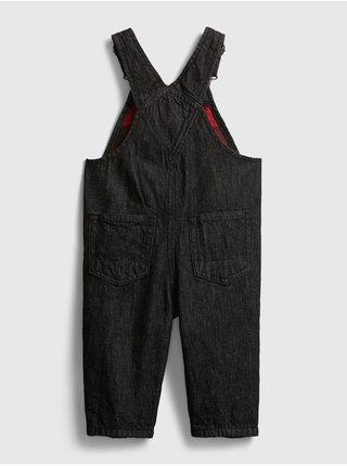 Čierne chlapčenské nohavice na traky GAP