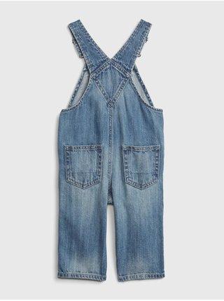 Modré chlapčenské rifľové nohavice na traky GAP
