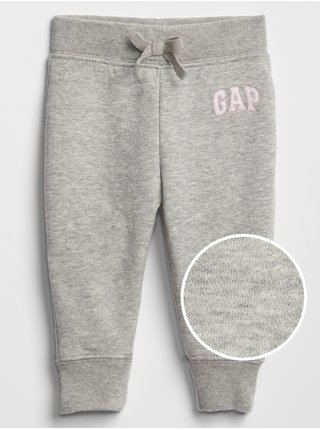 Šedé dievčenské tepláky GAP Logo