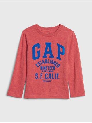 Červené klučičí tričko GAP Logo