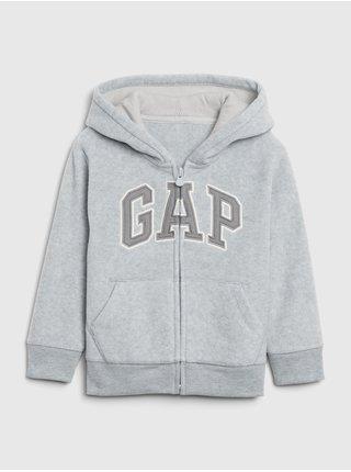 Šedá chlapčenská mikina GAP Logo