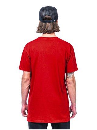 Horsefeathers BASE RED pánské triko s krátkým rukávem - červená