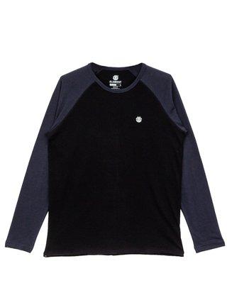 Element BLUNT FLINT BLACK BLUE pánské triko s dlouhým rukávem - černá