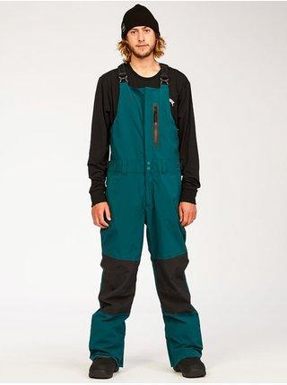 Billabong NORTH WEST STX BIB DEEP TEAL pánské zimní kalhoty - zelená