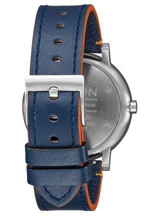 Nixon ROLLO LEATHER BLUEORANGE analogové sportovní hodinky
