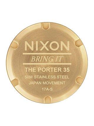 Nixon PORTER 35 ALLGOLD analogové sportovní hodinky - zlatá barva
