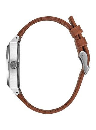 Nixon TIME TELLER DELUXE L SILVERSUNRAYSADDLE analogové sportovní hodinky