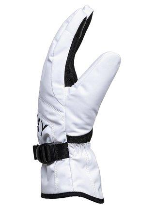 Roxy JETTY SOLID BRIGHT WHITE zimní prstové rukavice - bílá