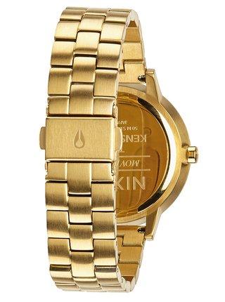 Nixon KENSINGTON ALLGOLD analogové sportovní hodinky - zlatá barva
