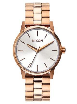 Nixon SMALL KENSINGTON ROSEGOLDWHITE analogové sportovní hodinky