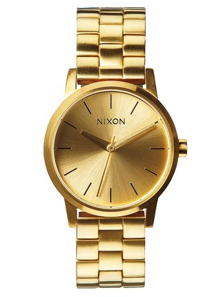 Nixon SMALL KENSINGTON ALLGOLD analogové sportovní hodinky - zlatá barva