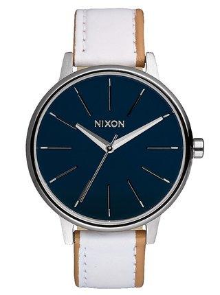 Nixon KENSINGTON LEATHER NAVYWHITE analogové sportovní hodinky