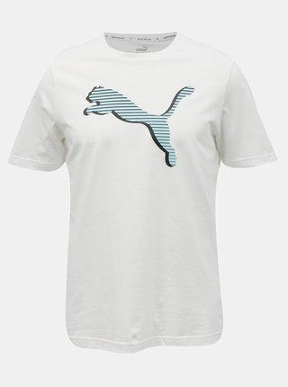 Biele pánske tričko s krátkym rukávom Puma