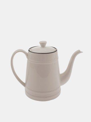 Bílá porcelánová konvice Dakls