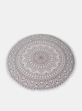Biely vzorovaný koberec Dakls