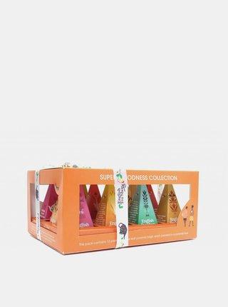 Dárková kolekce čajů Super goodness pyramidek English Tea Shop 12 ks