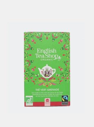 Zelený čaj s granátovým jablkom English Tea Shop 20 ks