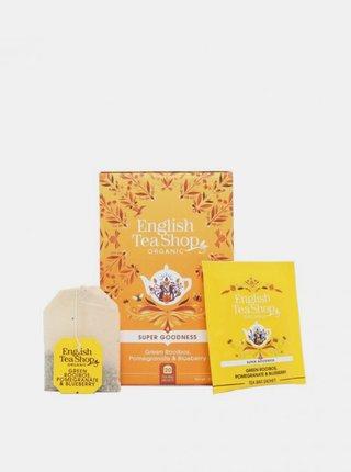 Organický čaj zelený rooibos, granátové jablko a borůvka English Tea Shop 20 ks