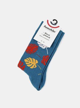 Modré ponožky Fusakle Monsterka