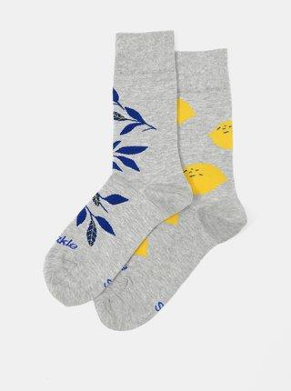 Šedé ponožky Fusakle Citronista