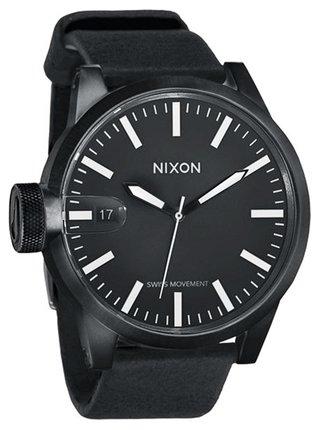 Nixon CHRONICLE ALLBLACK analogové sportovní hodinky - černá