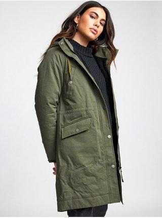 RVCA RUNYON PARKA ARMY DRAB zimní dámská bunda - zelená