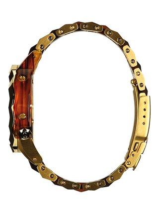 Nixon MONARCH GOLDMOLASSES analogové sportovní hodinky - hnědá