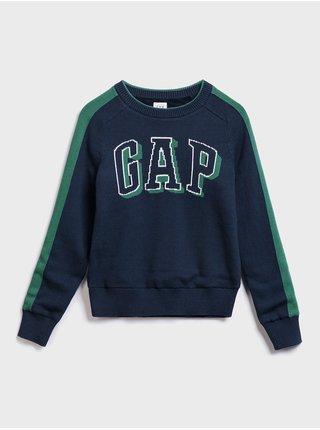 Modrý chlapčenský sveter GAP logo
