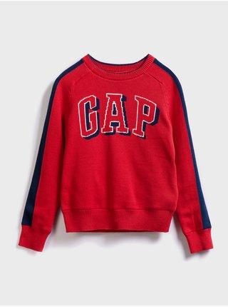 Červený chlapčenský sveter GAP logo