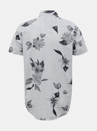 Šedo-bílá pruhovaná košile Jack & Jones Flower
