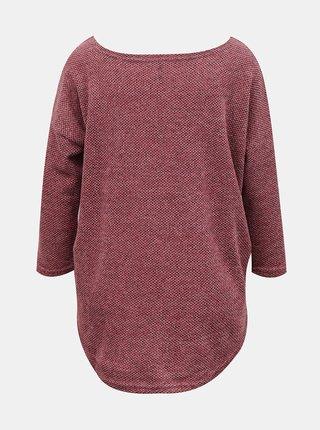 Tmavoružový dámsky voľný sveter Only