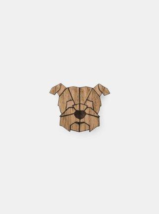 Dřevěná brož ve tvaru psa Heřman Brooch BeWooden
