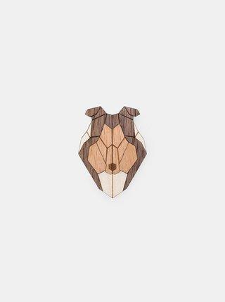 Dřevěná brož ve tvaru psa Collie Brooch BeWooden