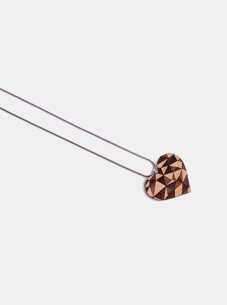 Dřevěný přívěsek BeWooden Love Pendant na krk BeWooden