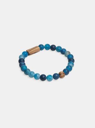 Korálkový náramek Aqua Zebrano Bracelet BeWooden