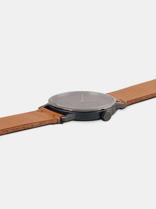 Drevené hodinky s remienkom z pravej kože Sand Watch BeWooden