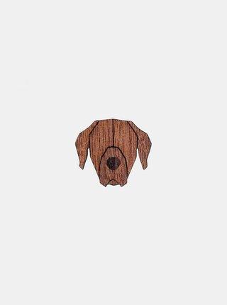 Dřevěná brož ve tvaru psa Rhodesian Ridgeback Brooch BeWooden