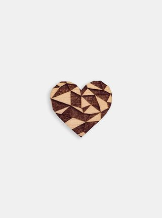 Dřevěná brož Love Brooch BeWooden
