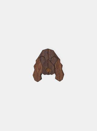 Dřevěná brož ve tvaru psa Cocker Spaniel Brooch BeWooden
